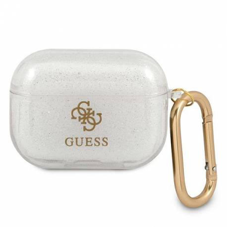 Guess GUAPUCG4GT AirPods Pro cover Transparent Glitter Collection